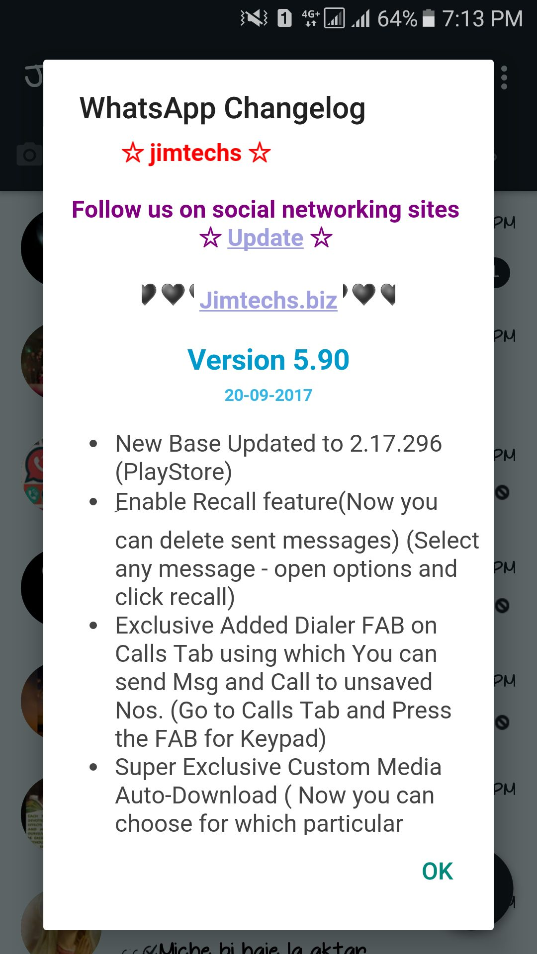 WhatsApp plus JiMODs v5.90 Jimtechs Editions