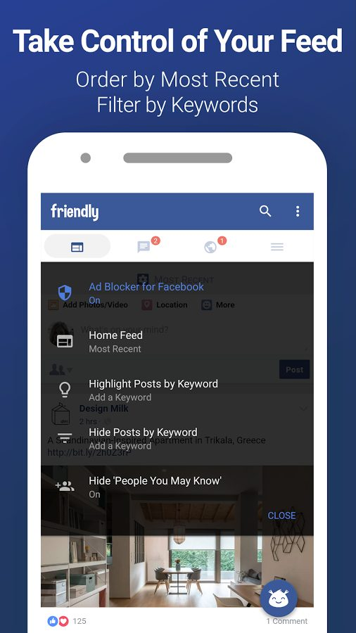 Friendly Facebook v1.5.03 Full APK