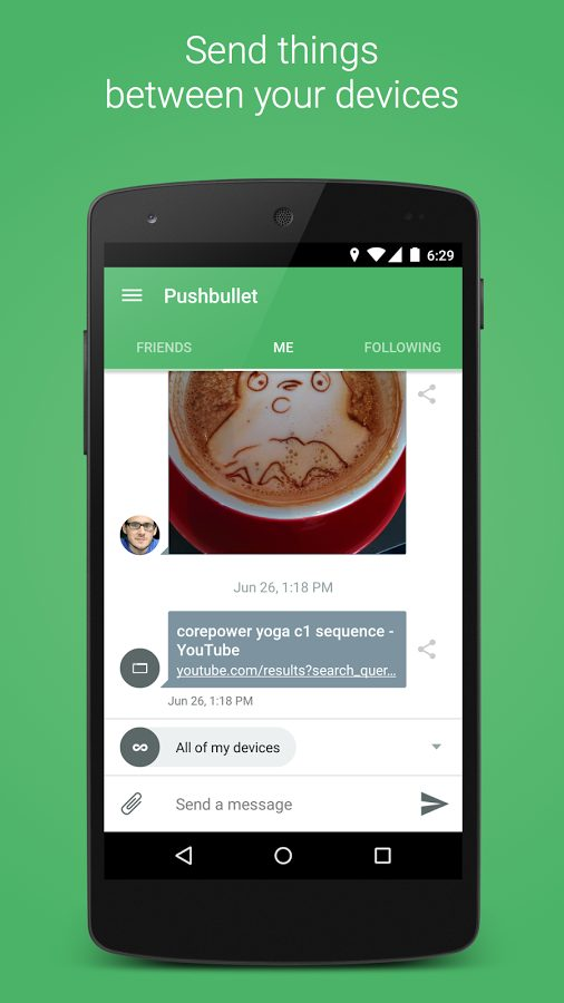 Pushbullet SMS on PC Pro v17.7.17 Full APK