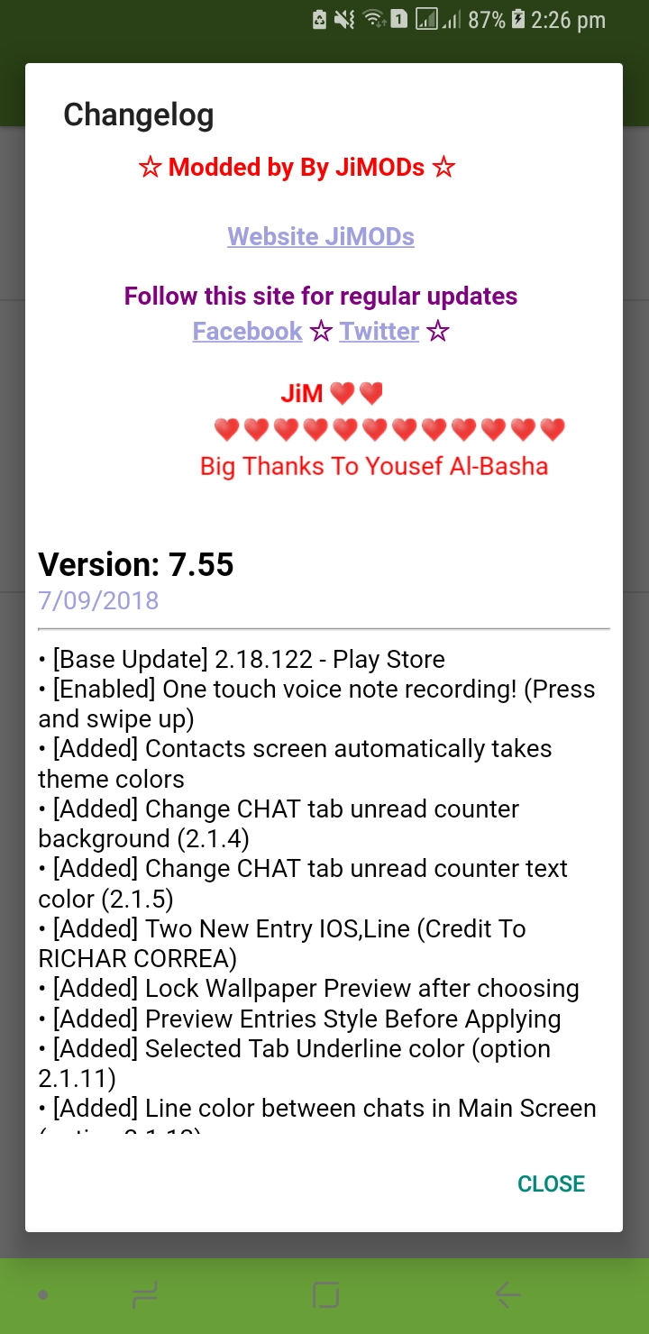 WhatsApp Plus JiMODs v7.55 New Jimtechs Editions
