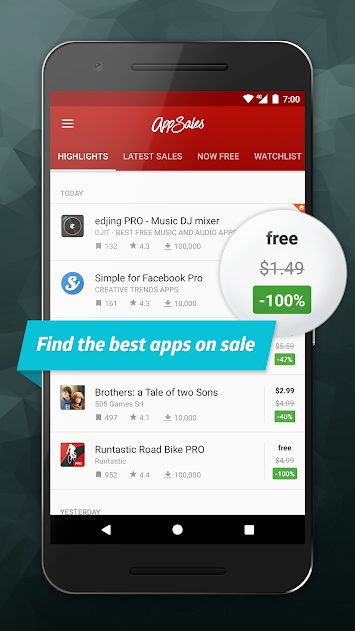 AppSales Paid Apps Gone Free v9.1 Pro APK