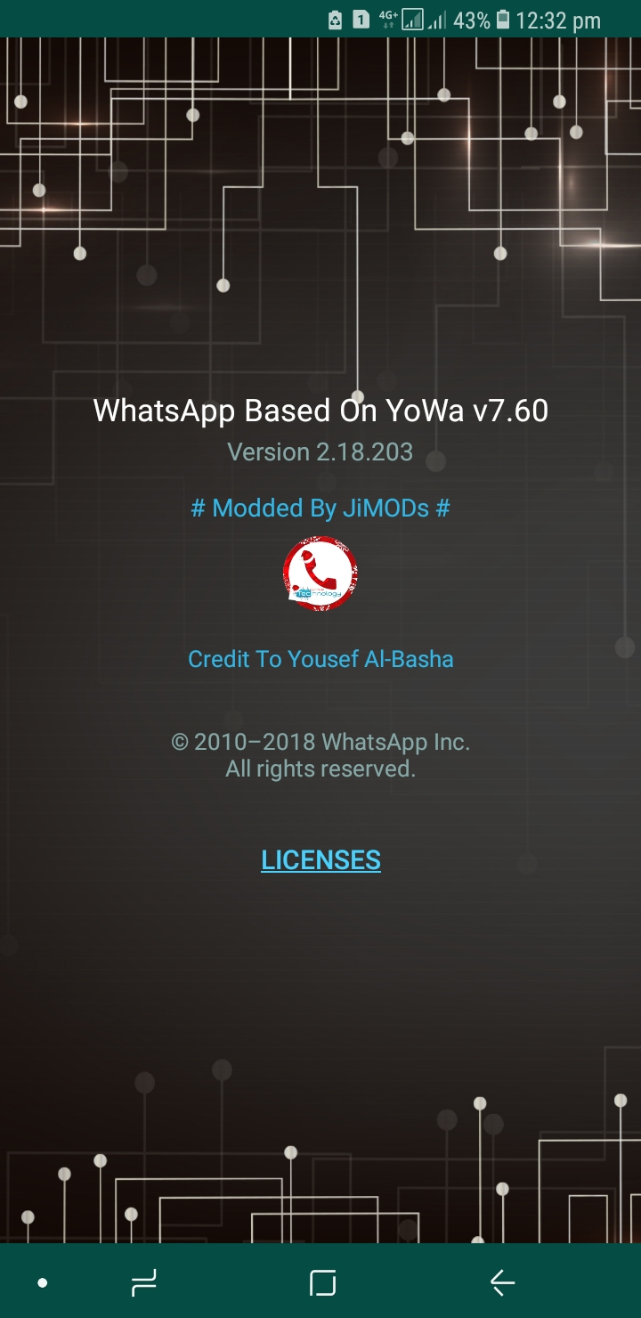 WhatsApp Plus JiMODs v7.60 Jimtechs Editions