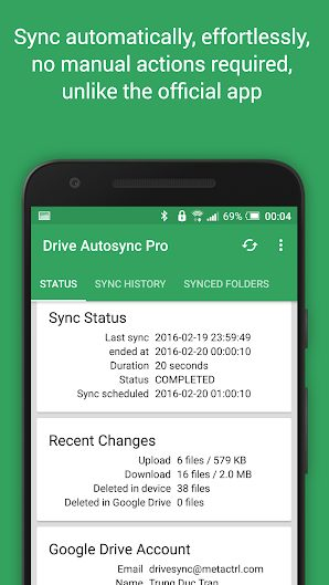 Autosync Google Drive v3.4.0 Ultimate Full APK