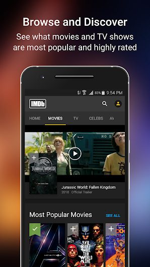 IMDb Movies & TV v7.7.0.1077002 Mod APK