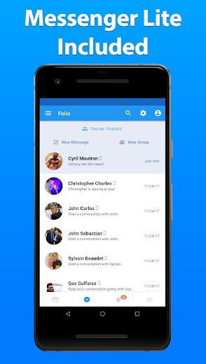 Folio Facebook Messenger v3.2.03 Unlock APK