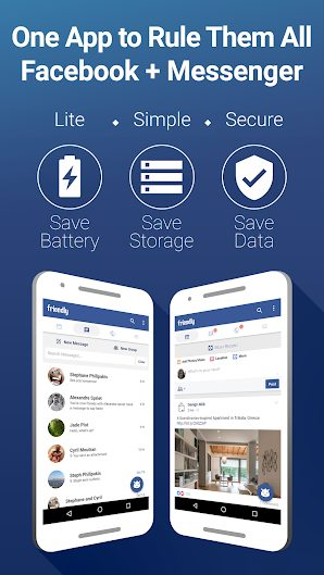 Friendly Facebook v3.0.05 Unlocked Full APK