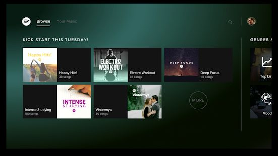 Spotify Music Android TV v1.20.0 Mod APK