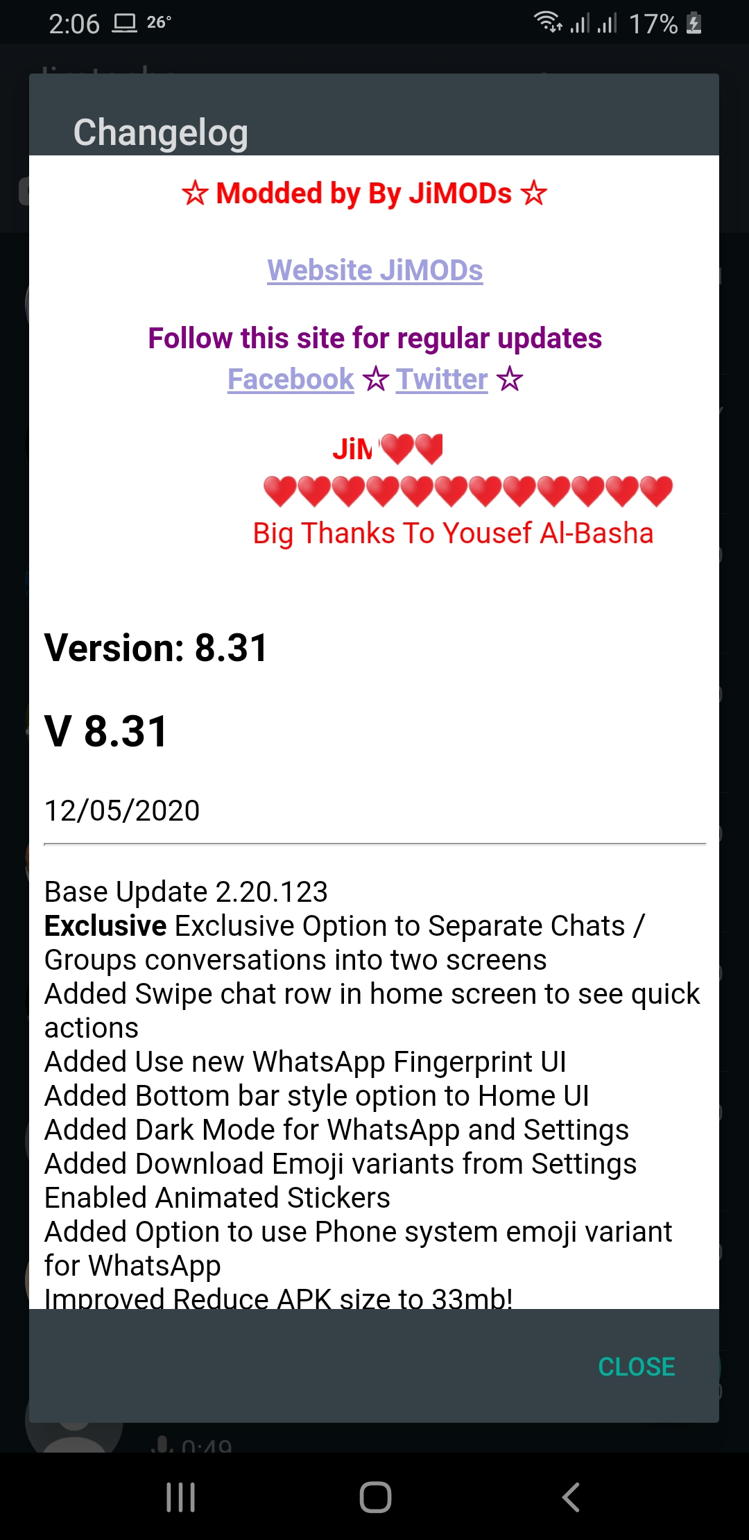 WhatsApp Plus JiMODs v8.31 Jimtechs Editions